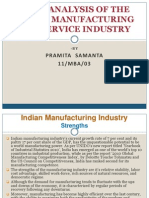 Swot Analysis of the Manufacturing and Service Industry