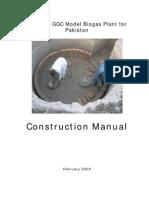 Construction Manual Modified GGC Model Biogas Plant for Pakistan 2009