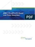ARM 1176-JZFS CPU-Based Low-Power Subsystem