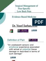 Dr Yusef Sarhan Orthopedic Surgery Chronic Low Back Pain MBC