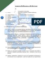 SÍLABO DE HERRAMIENTAS DE DESARROLLO DE SOFTWARE