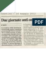 Fiaccolata contro l'omofobia - Trentino 2012-05-16