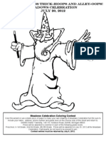 Coloring Page 2012 Wizard