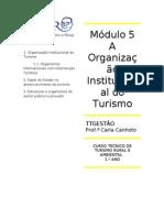 OrganizaçãoInstitucionalTurismo