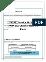 ESTRATEGIAS Y TÉCNICAS PARA LAS CLASES BÍBLICAS-PARTE I