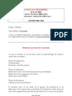 Correction de Partiel MBA ACG Juillet 2011 Audit Conseil
