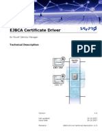 EJBCA Driver Technical Description v1.0