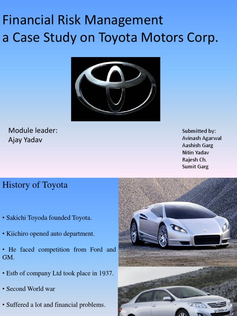financial risk management at toyota