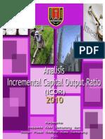 Analisis Incremental Capital Output Ratio (Icor) Kota Semarang 2010