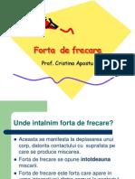 FORŢA DE FRECARE
