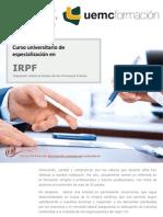 Curso universitario de especialización en IRPF