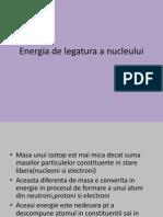 Energia de Legatura a Nucleului