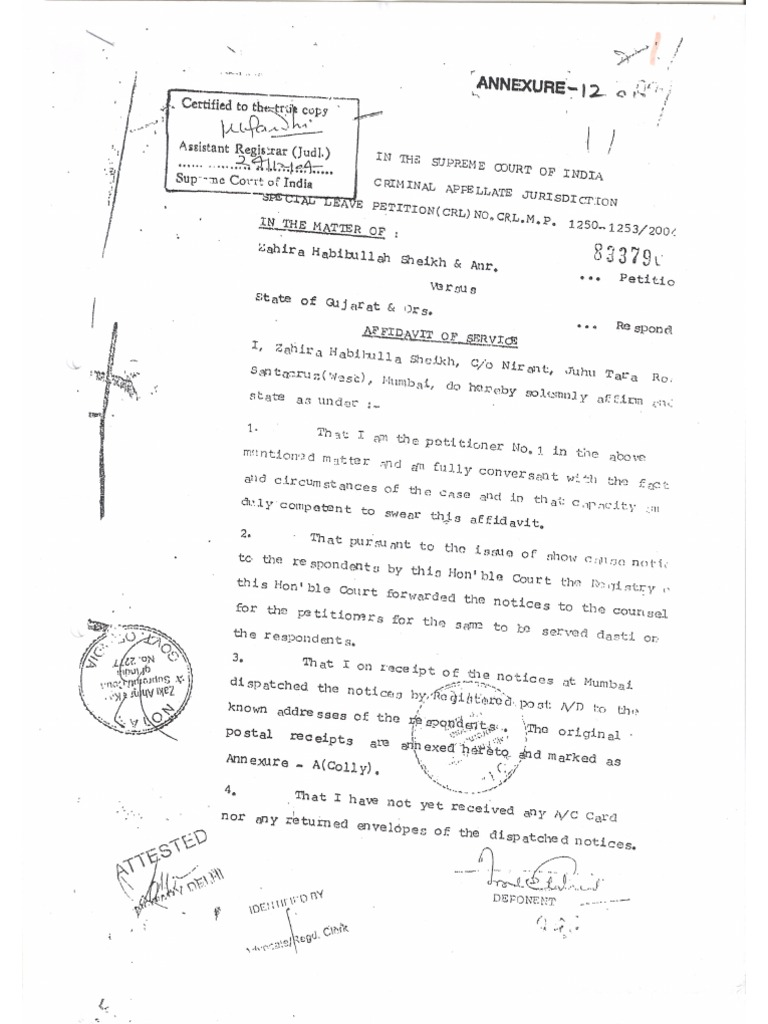 Teesta Setalvad's perjury in Supreme Court