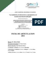 Ficha de Articulación 2011