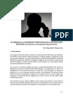 El Derecho a la Intimidad o Privacidad en la Constitución de Bolivia - 2012