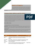 Common Defects of Fabrics