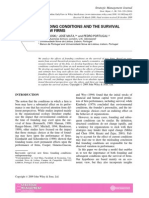 2010 Founding Conditions and Survival of New Firms