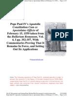 Cum Ex Apostolatus Officio Pope Paul IV