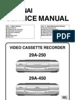 Funai 29a-250-450 Service Manual