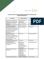 Cronograma de Acciones del Plan Provincial de Finalización de Estudios Obligatorios SECUNDARIA (2012)