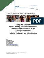 Criterion Teacher Guide Web 6487