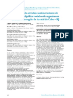 Avaliação da atividade antiincrustante de glicerofosfolipídios isolados de organismos marinhos
