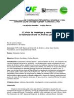 El oficio de investigar y narrar la violencia urbana en América Latina