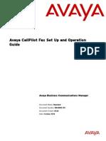 Avaya Call Pilot Fax