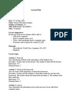 Audio Design Document Google Lesson Plan - Audio design document