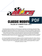 Stars 2012 Rule Book for Classic Modified