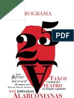 Programa de las XXV Jornadas Alarconianas 2012