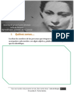 Inventario grupal Julia de Burgos Aprendizajes a través de su poesía