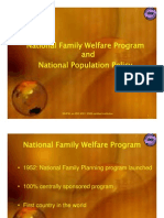 Family Welfare Program & Population Policy