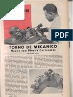 Torno de Mecanico Hecho Con Piezas Corrientes Mecanica Popular