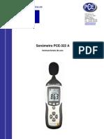 SONOMETRO Manual Pce 322a
