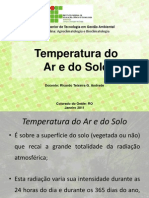 Temperatura Do Ar e Do Solo