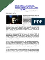 Anonymous Tumba Las Webs Del Depart Amen To de Justicia de Ee