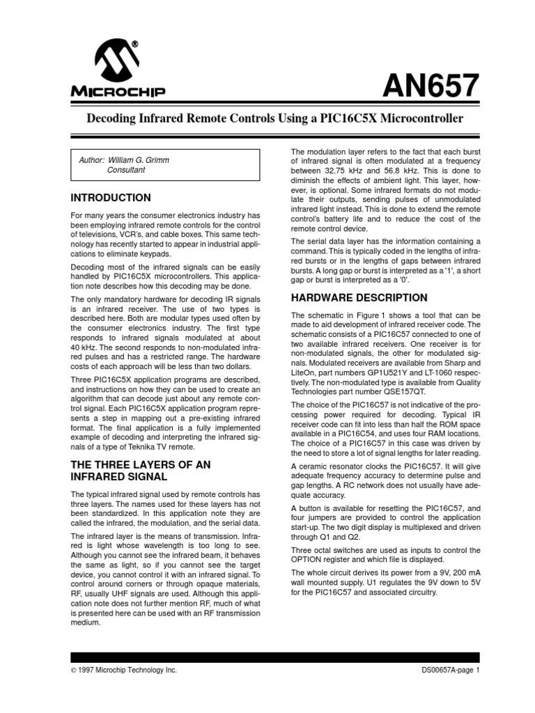 Decoding Infrared Remote Control | Remote Control | Infrared
