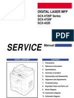 Samsung Digital Laser MFP SCX-4720F Series, SCX-4720, SCX-4520 Parts & Service Manual