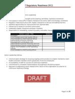 THP Regulatory Readiness 2011 - FRAMEWORK (2011!11!02)
