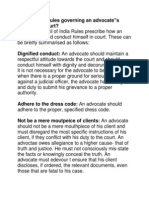What Are the Rules Governing an Advocate