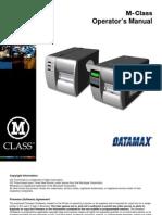 M-Class Operator Manual
