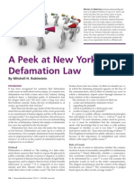 A Peek at New York Defamation Law