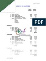 Finanzas Costos de Cocteles