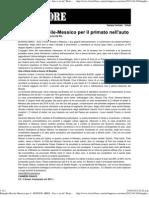 Battaglia Brasile-Messico Per Il Primato Nell'Auto