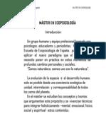 Master Ecopsicologia PROGRAMA
