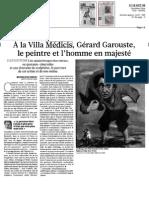 A La Villa Medicis Gerard Garouste Le Peintre Et l Homme en Majeste Le Figaro Et Vous