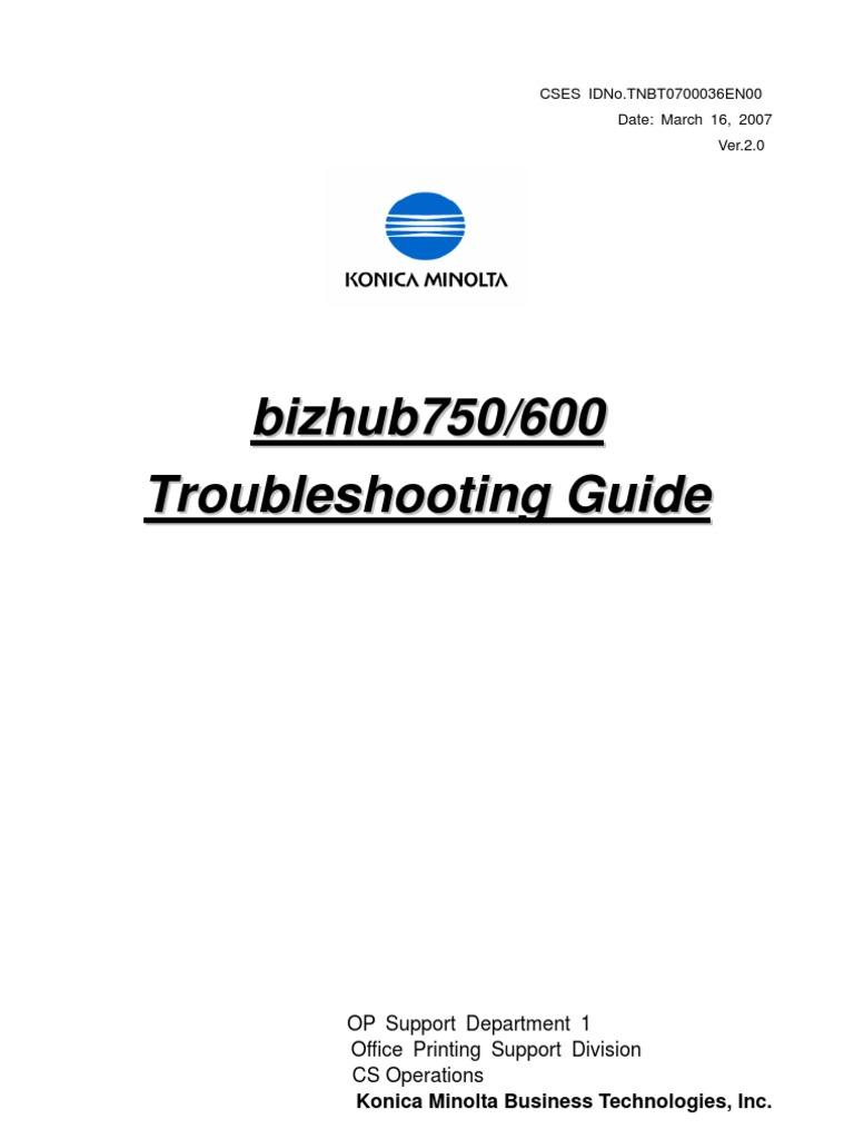 Bizhub750 600 Troubleshooting Guide 2st[1