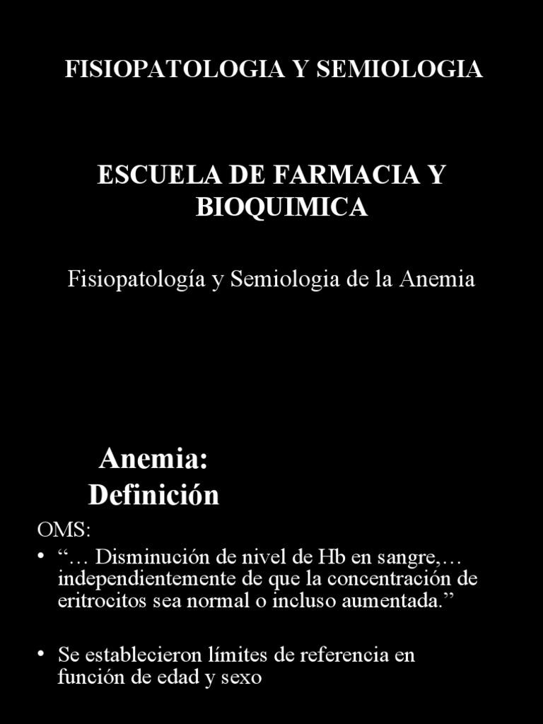 anemias fisiopatologia