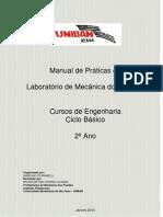 Manual de Praticas Laboratoriais - Disciplina de Mecanica dos Fluidos - 2-¦ ANO